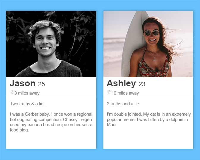 best Tinder bios and Tinder profile tips including two truths and a lie