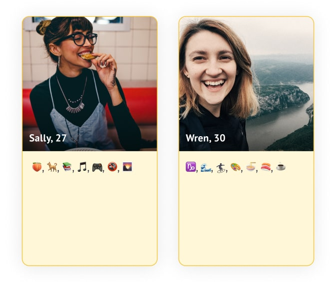 bumble profile emojis