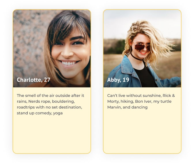 bumble profile favorite things