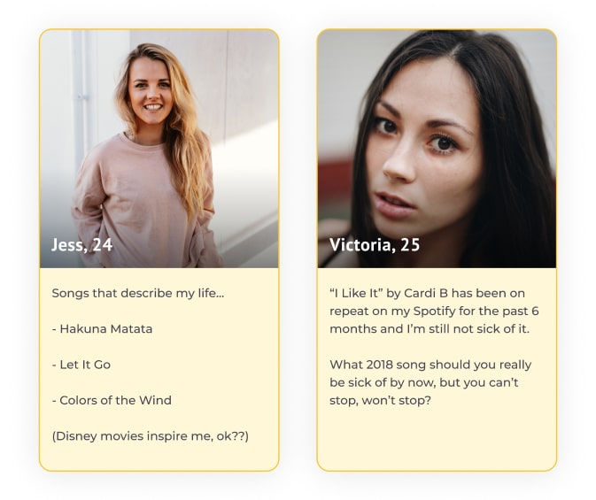 bumble profile songs that describe you