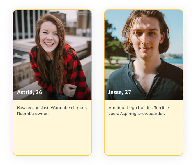 dating profile examples three things
