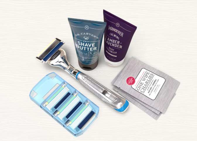 Dollar shave club subscription boxes for men