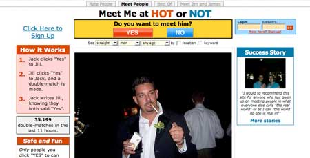 Hot or Not website with dating