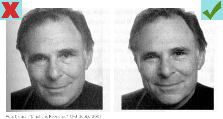 Learn how to smile more naturally and genuinely for photos