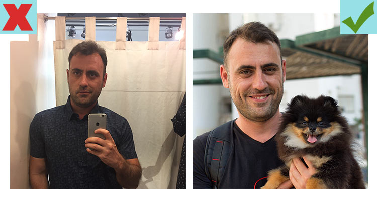 The best Tinder pictures include a pet like a dog or cat