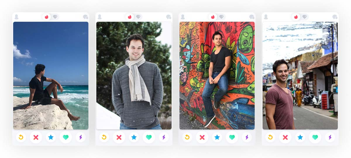 Your Tinder pictures need variety so use lots of different pics